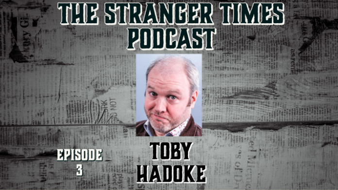 The Stranger Times podcast cover for episode 3, Yes Prime Minister featuring Toby Hadoke