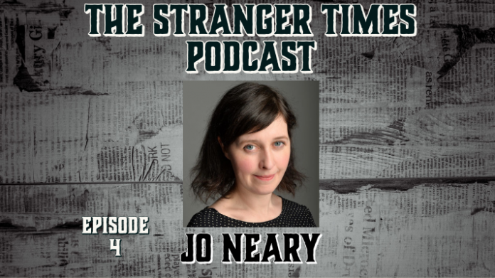 The Stranger Times podcast cover for episode 3, Yes Prime Minister featuring Jo Neary