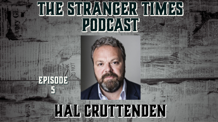 The Stranger Times podcast cover - Episode 5 featuring Hal Cruttenden