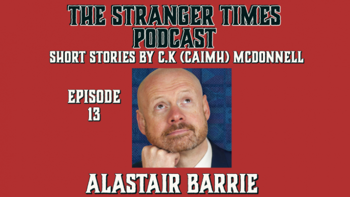 The Stranger Times podcast Cover Episode 13 Sacrifice featuring Alastair Barrie